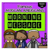 Morning Message Famous African Americans