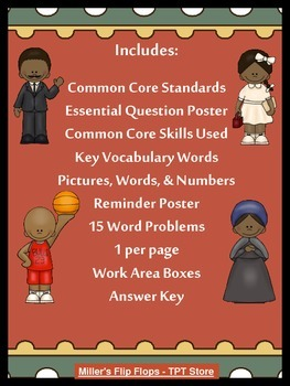 Black History Multi-Step Word Problems - 3.OA.8 - CC 3rd Grade Math