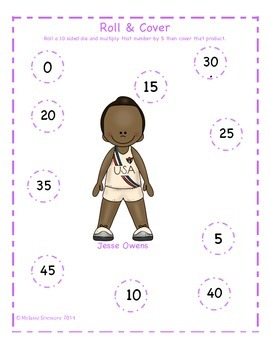 Black History Multiplication Roll and Cover