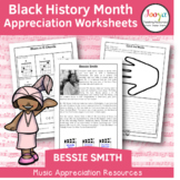 Black History Music Appreciation Worksheets   Bessie Smith