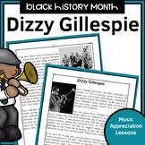 Black History Music Appreciation Worksheets   Dizzy Gillespie