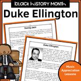 Black History Music Appreciation Worksheets   Duke Ellington