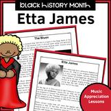 Black History Music Appreciation Worksheets   Etta James