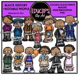 Black History ~ Notable People Clip Art Bundle {Educlips Clipart}