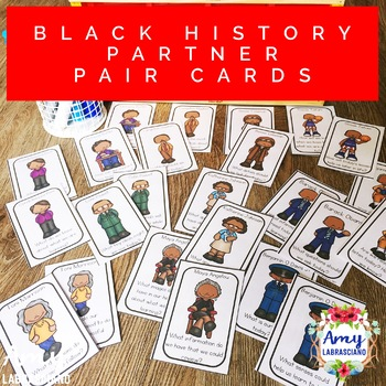 Influential African American Partner Pairing Cards