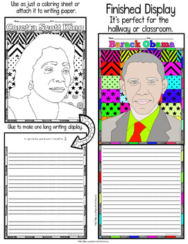 "Black History Month: ""Pattern Portrait"": Black History Month Writing Banner"