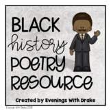 Black History Poems/Poetry Set
