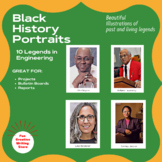 Black History Portraits: Engineers (Bulletin Boards, Projects)