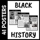 Black History Posters & Facts Scavenger Hunt (Distance Lea