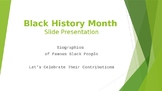 Black History Biography PowerPoint Presentation