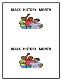 Black History Printable Book