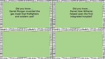 Black History Problem Solving Task Cards