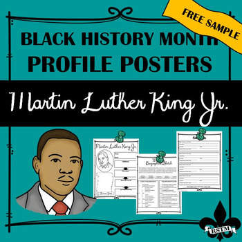 Black History Profil Poster: Martin Luther King Jr.--FREEBIE