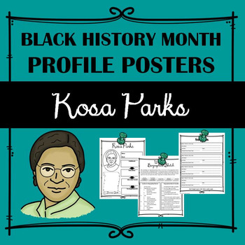 Black History Profile Poster: Rosa Parks