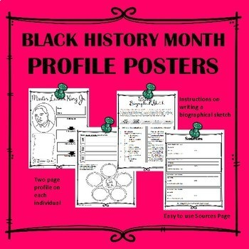 Black History Profile Posters--Bundle of all 25 profiles