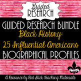 Black History Profiles Guided Research--Bundle of 25 profiles