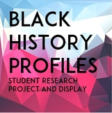 Black History Profiles: Worksheets & Display