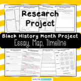 Black History Month Research Project - Essay, Timeline, Map - Report Writing