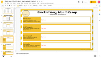 black history month project research essay timeline map