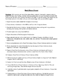 Black History Month: African-American History Project with Detailed Rubric