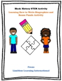 Black History Month Figure Biography Writing and Puzzle ST