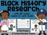 Black History QR Code Research and Comprehension Sheets