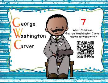 Black History Month Activities -  Scavenger Hunt using QR Codes!