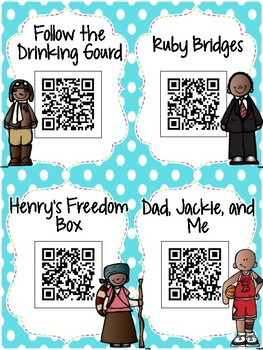Black History QR Codes: 16 Stories for Your Daily Five Listen to Reading Center