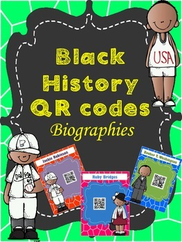 Black History QR Codes *Bio Posters*
