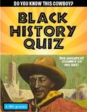 Black History Quiz #0 - Can you name this black cowboy?