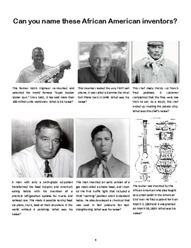 Black History Quiz #1 - Can you name these inventors?