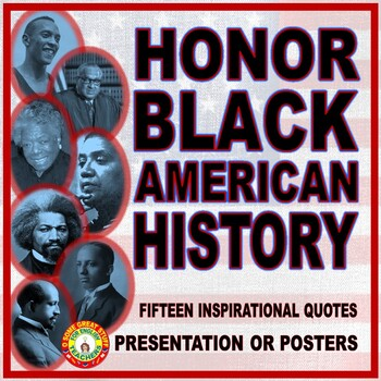 Famous Black Americans Quotes Presentation Or Posters Tpt