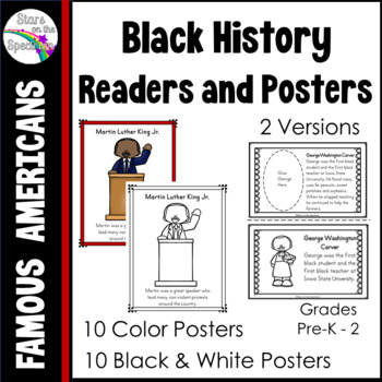 Black History Bundle - Reader & Posters (Black History Cut & Paste Booklet)