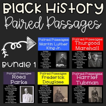 Black History Reading Comprehension Paired Passages {Bundle 1}
