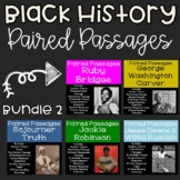 Black History Reading Comprehension Paired Passages {Bundle 2}