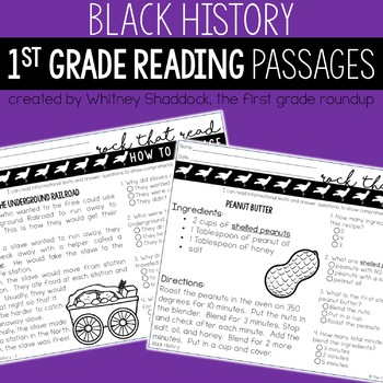 Black History Month Reading Comprehension Passages