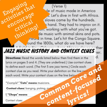 Black History Reading Comprehension Passages with Black History Biography Songs