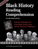 Black History Reading Comprehension Passages for 4th Grade and up