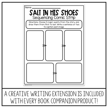 Black History Reading Comprehension | Salt in His Shoes Book Companion