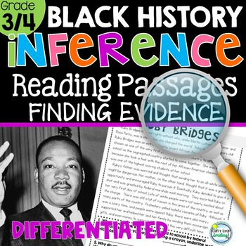 Black History Reading Passages Making Inferences Using Text Evidence 3rd Grade