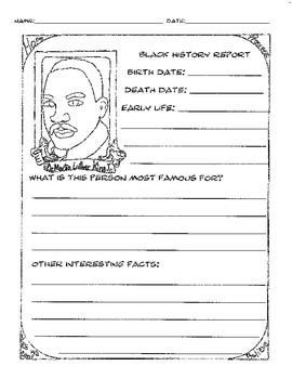 Black History Report Coloring Pages By A Team Scholars Tpt