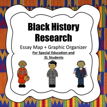 Black History Research Essay Map + Organizer for SPED/EL