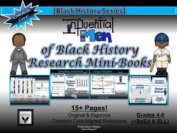 Influential Men of Black History Research Mini-Books Activity Common Core