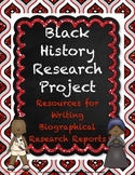 Black History Research Report Project with Quote Cards