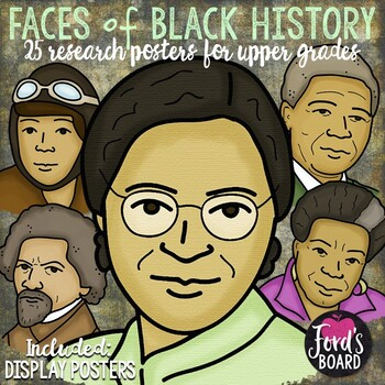 Black History Research Reports Upper Grades (Posters of Each Figure Included)