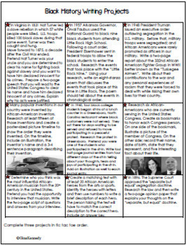 Black History Creative Writing Projects, PLUS: Complete Timeline