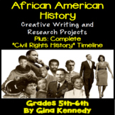 Black History Projects, Creative Writing and Research Activities, Timeline
