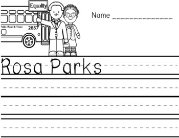 Black History Rosa Parks PreK Reading and Math Activities