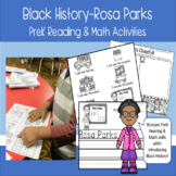 Black History Rosa Parks PreK Reading and Math Activities