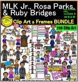 Black History BUNDLE Ruby Bridges MLK Jr.  Rosa Parks Clipart  images